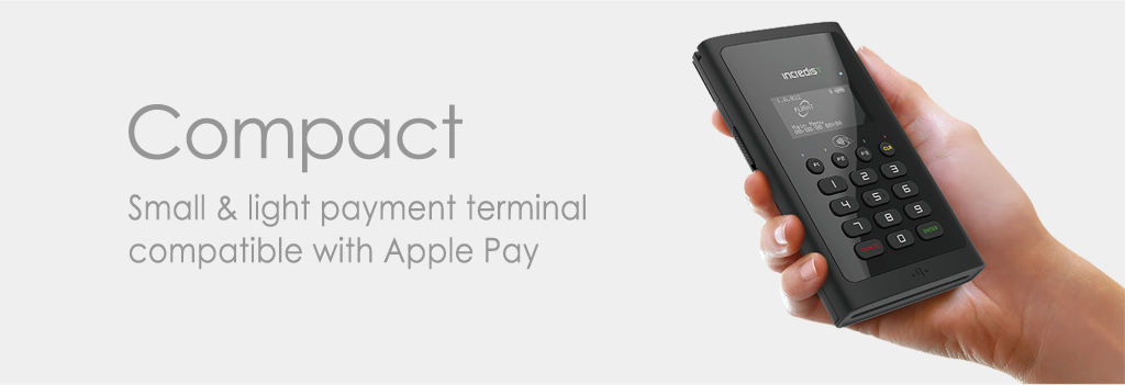 Compact Small and light payment terminal compatible with Apple Pay